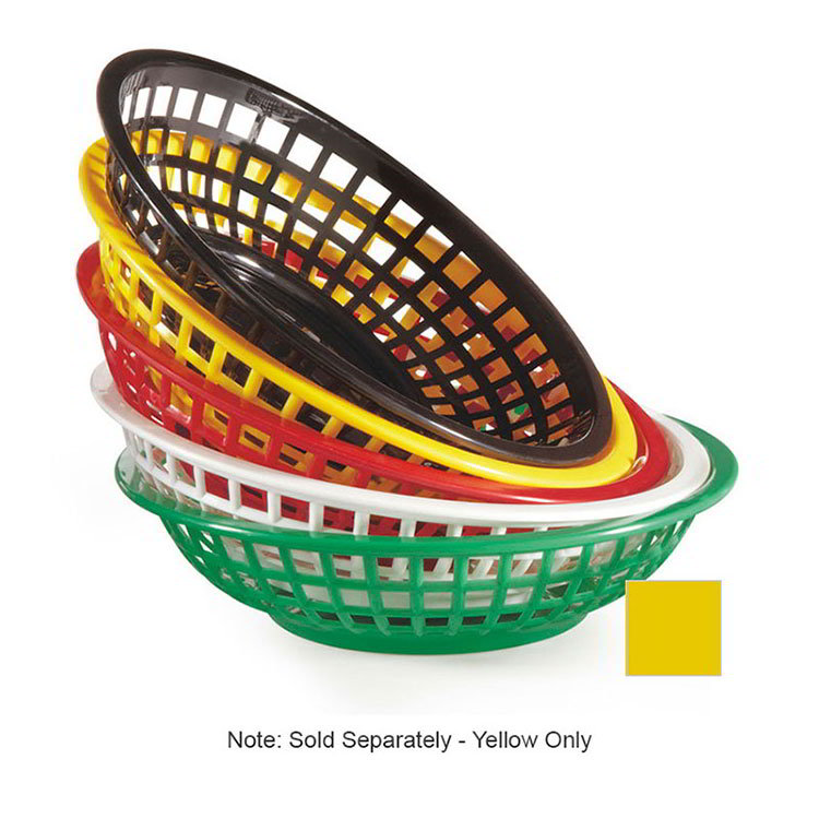 G.E.T RB-820-Y 8 in Round Bread & Bun Basket Plastic Yellow Restaurant Supply