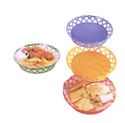 G.E.T RB-860-RO 10 in Round Bread & Bun Basket Plastic Rio Orange Restaurant Supply