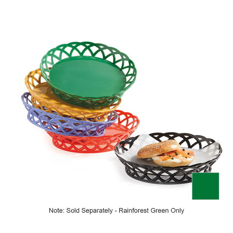 GET RB-860-FG 10 in Round Bread & Bun Basket, Plastic,
