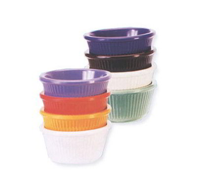 GET RM-389-TY 3oz Ramekin, Fluted, Melamine, Tropical Yellow