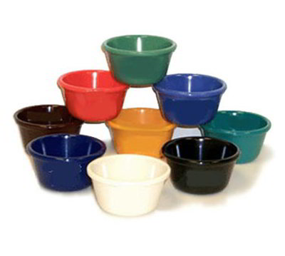 GET RM-400-TE 4oz Ramekin, Plain Cone-Shaped, Melamine, Teal