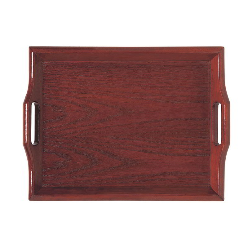 GET RST-2516-M 25 x 16 in Room Service Tray, Hardwood, Mahogany