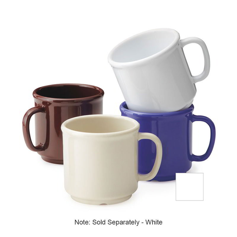 GET S-12-W Coffee Mug, 12 oz, SAN, White
