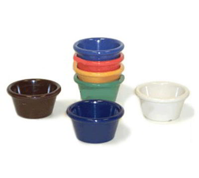 GET S-620-RO 2 oz Ramekin, Plain, Melamine, Rio Orange