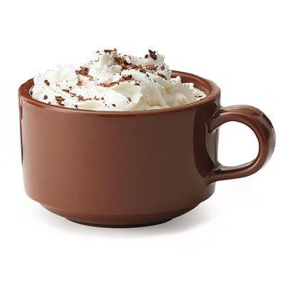 GET SC-10-BR 10oz Soup Mug, SAN Plastic, Brown