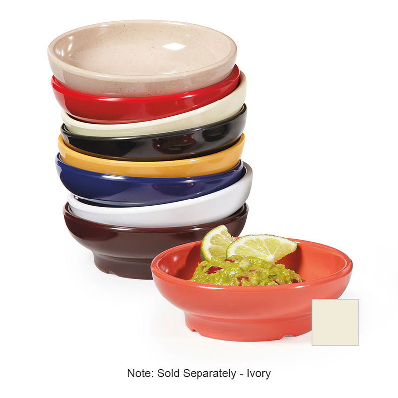 G.E.T SD-05-IV Salsa Dish 5 oz Melamine Ivory Restaurant Supply