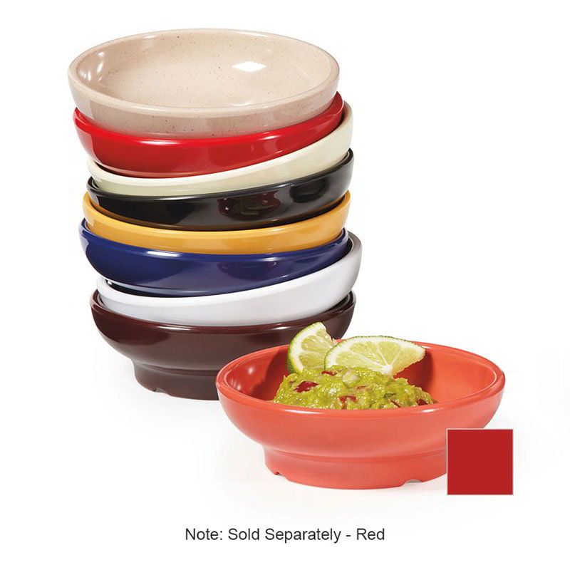 GET SD-05-R Salsa Dish, 5 oz, Melamine, Red