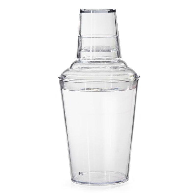 GET SH-175-CL 17.5 oz, 3 Piece Plastic Shaker Set - Clear