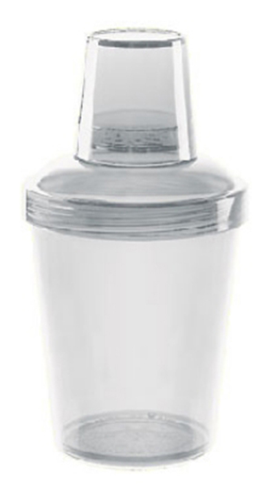 G.E.T SH-176-CL Shaker Set 3 Piece 20 oz Screw On Top SAN Clear Restaurant Supply