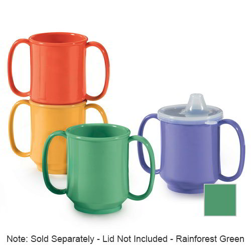 GET SN-103-RO 10-oz Mug, Double Handle, BPA Free, Rio Orange
