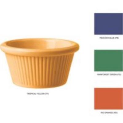 GET SP-RM-389-MIX 3-oz Fluted Cone Shaped Ramekin, Diamond Mardi Gras