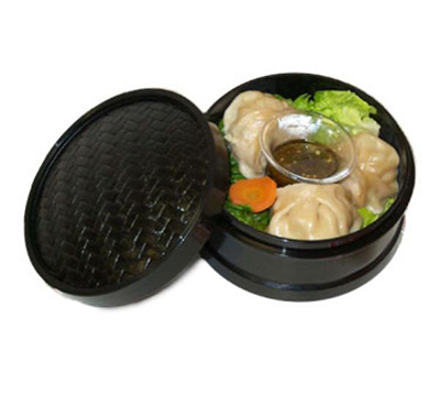 GET STM-45-BK 4-1/2 in Steamer Set, Plastic, Black