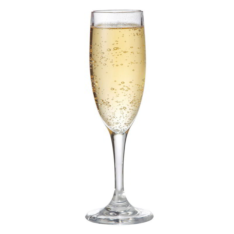GET SW-1401-CL 6 oz Champagne Glass, Clear, SAN Plastic
