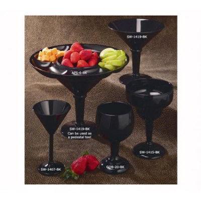 GET SW-1407-SAN-BL 10-oz Martini Glass, Black SAN