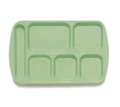 GET TL-151-G School Tray, 6 Compartment, Left-Handed, Gr