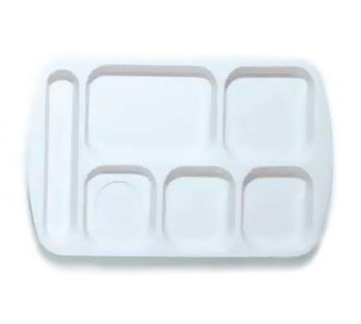 GET TL-151-W School Tray, 6 Compartment, Left-Handed,