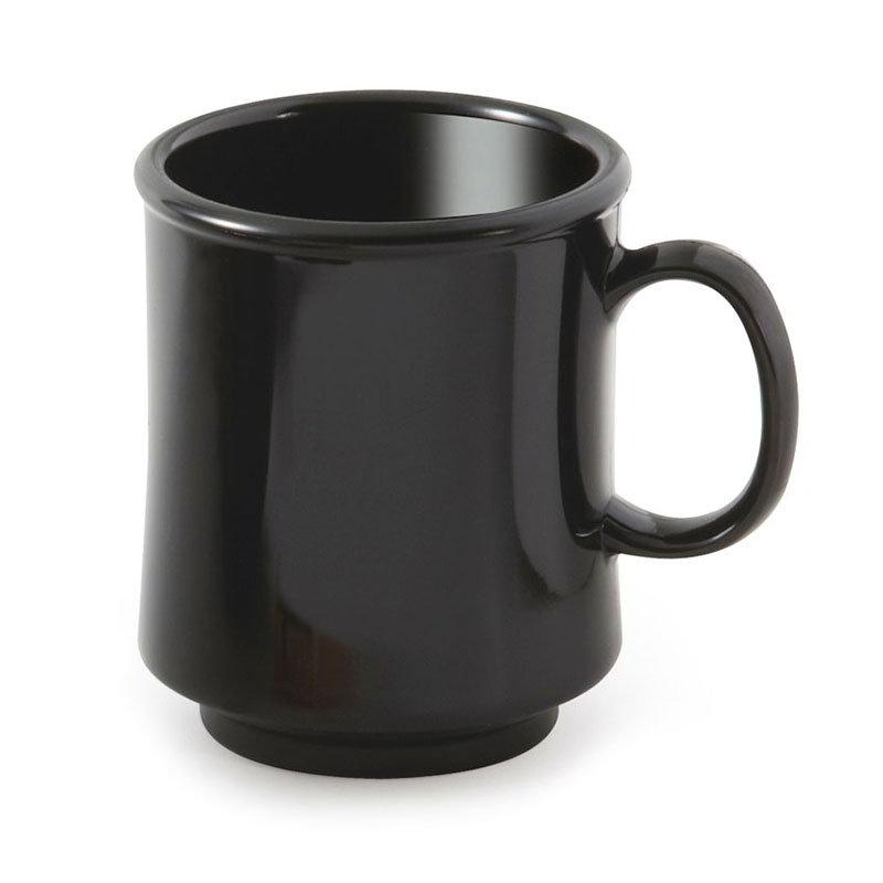 GET TM-1308-BK 8-oz Plastic Mug / Cup, Stacking, Black