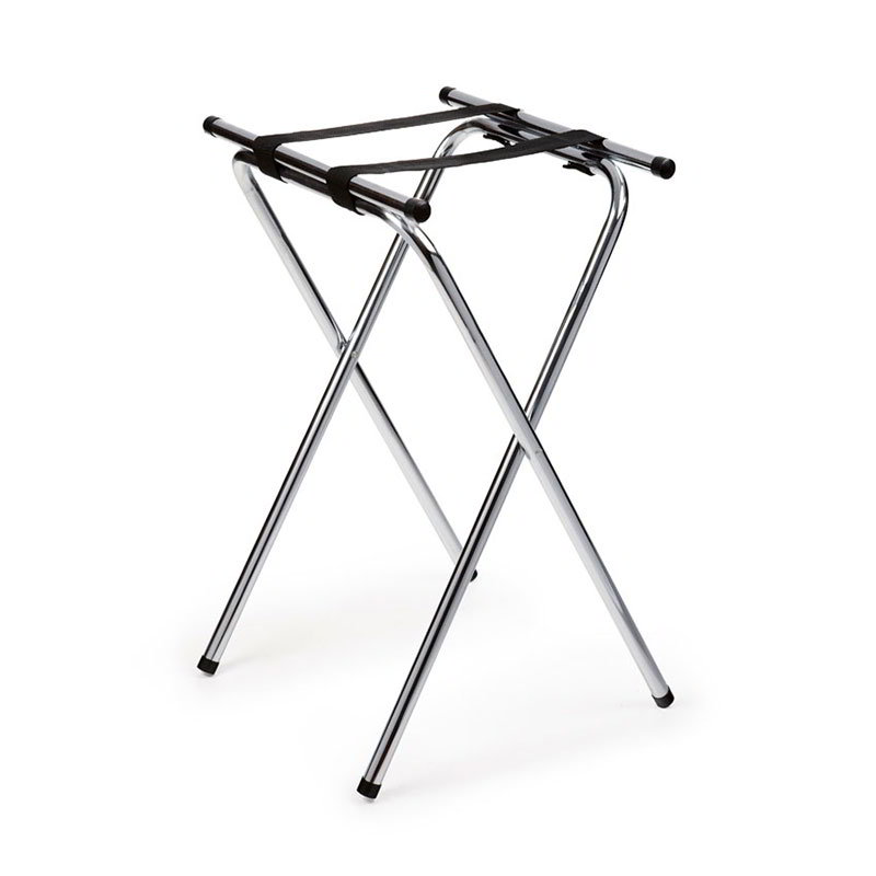 GET TSC-102 Tray Stand, 32 in High, Double Bar, Deluxe Chrome