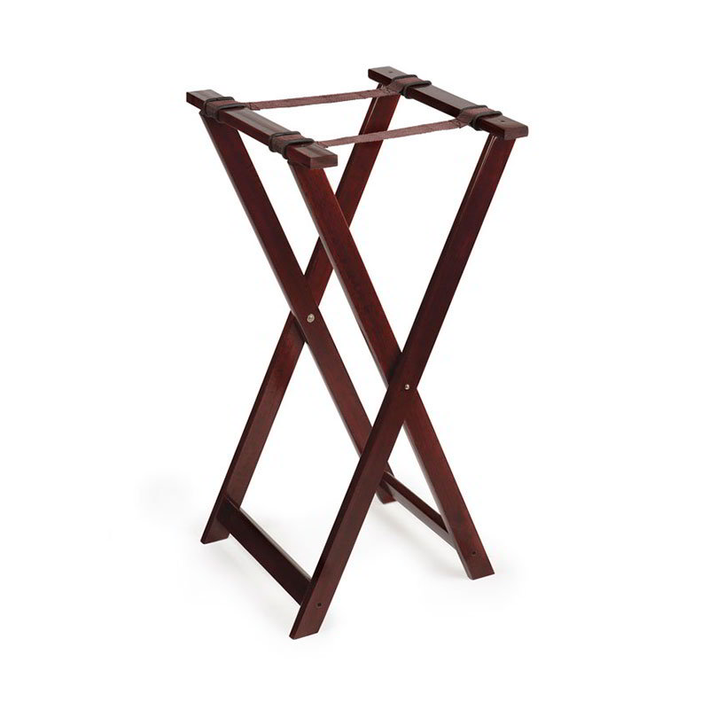 GET TSW-103 Tray Stand, 31-1/2 in High, Walnut Hardwood