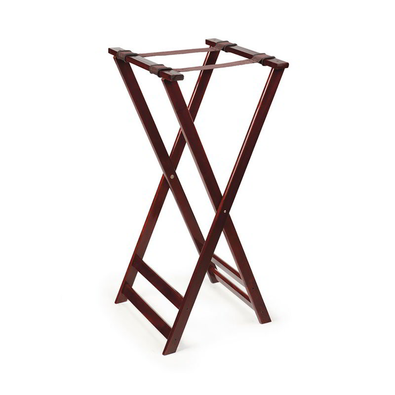 GET TSW-105 Tray Stand, 38 in High, Mahogany Hardwood