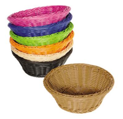 G.E.T WB-1501-BK Designer Polyweave Basket Roun Restaurant Supply