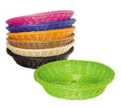 G.E.T WB-1502-BK Designer Polyweave Basket Round Restaurant Supply