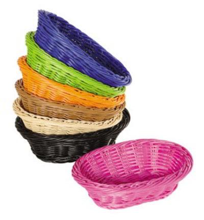 GET Enterprises WB-1503-H Designer Polyweave Basket Oval 9 x 6-3/4 x 2-1/2 in Deep Polypropylene Honey Restaurant Supply