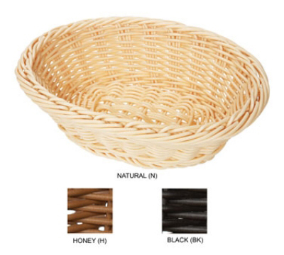 GET Enterprises WB-1504-N Designer Polyweave Basket Oval 9-1/4 x 6-3/4 x 3-1/4 in Deep Natural Restaurant Supply