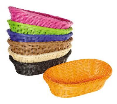 GET Enterprises WB-1505-BK Designer Polyweave Basket Oval 11-3/4 x 8 x 3 in Deep Polypropylene Black Restaurant Supply