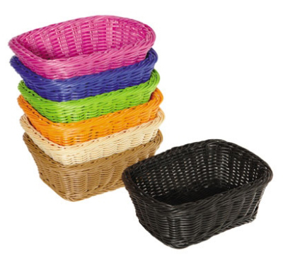 G.E.T WB-1506-H Designer Polyweave Basket Oval Restaurant Supply