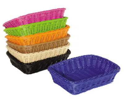 G.E.T WB-1508-OR Designer Polyweave Basket Rectangular Restaurant Supply
