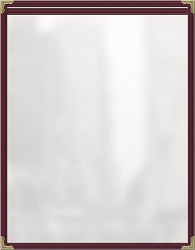 Risch TES8-1/2X11 MN Clear Sewn