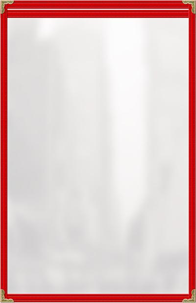 Risch TES8-1/2X14 RD Clear Sewn Menu C