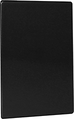 Risch TMB8-1/2X14 BK Tuscan Menu Board - Hardback, Double-Sided, 8-1/2x14