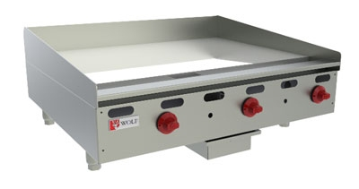 Wolf Range AGM36 11 36-in Countertop Griddle w/ 1-in Steel Plate, NG
