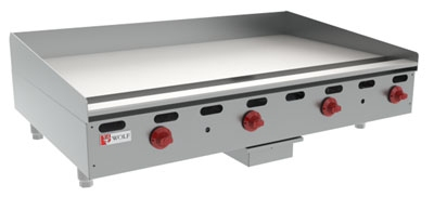Wolf Range AGM48 12 48-in Countertop Griddle w/ 1-in Steel Plate, LP