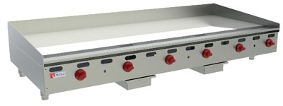 Wolf Range AGM72 12 72-in Countertop Griddle w/ 1-in Steel Plate, LP