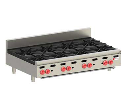 Wolf Range AHP848 NG 48-in Hotplate w/ 8-Open Burners & Cast Iron Grates, NG