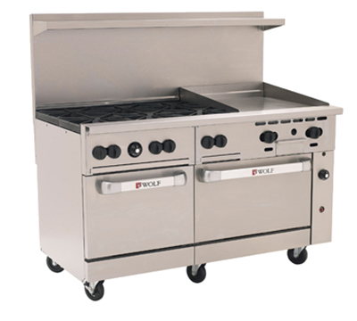 "Wolf Range C60 60"" 6-Burner Gas Range with Griddle, NG"
