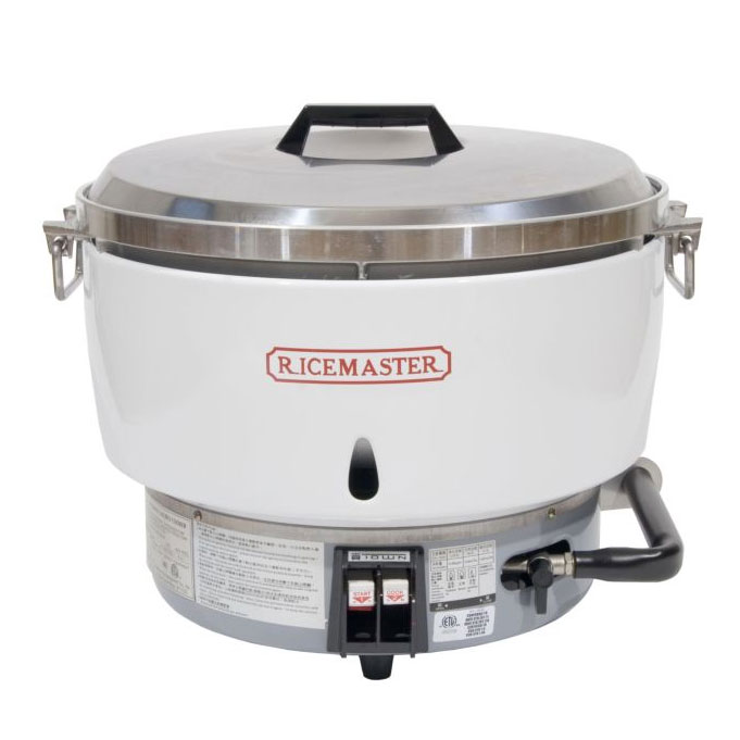 Town Food Service RM-55N-R 55 Cup Commercial Rice Cooker, Natural Gas, Aluminum Exterior, NG