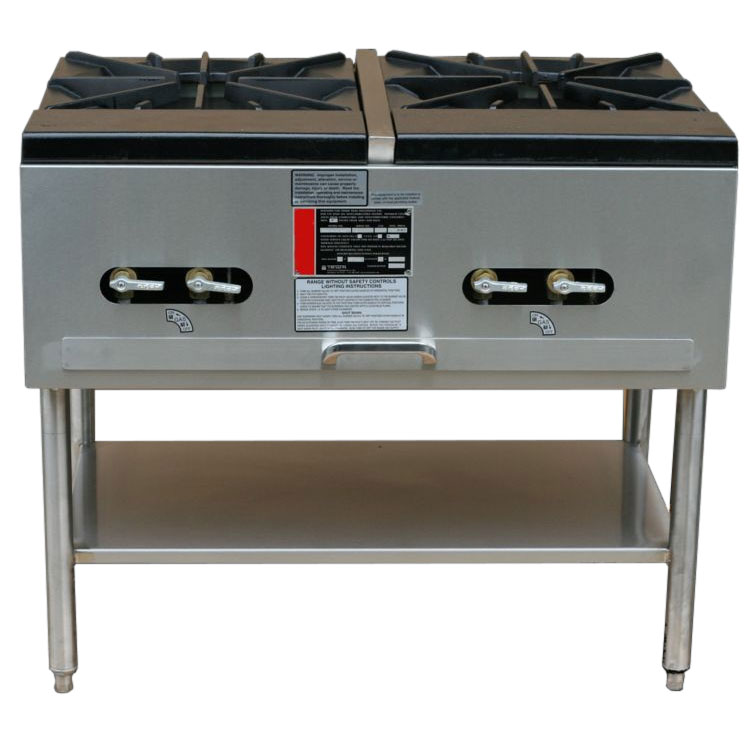 Town Food Service SR-24-G-2X LP 2-Burner Stock Pot Range, LP