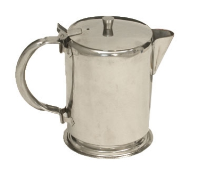 Town Food Service 24132 32 oz Stainless Teapot, Short Spout, Built-In Tea Leaf Strainer