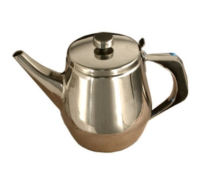 Town Food Service 24138 38 oz Stainless Teapot, Gooseneck Spout, Built-In Tea Leaf Strainer