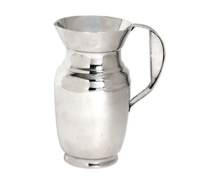 Town Food Service 24264 64 oz Polished Stainless Water Pitcher, With Ice Guard