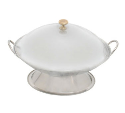 Town Food Service 25109 Wok Serving Dish, Two Handles, Polished Stainless, Without Cove