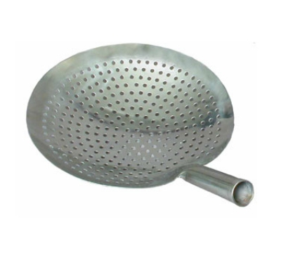 Town Food Service 32911 Stainless Mandarin Strainer, Perforated, 5 in Handle, One-Piece, 11 in