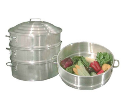 Town Food Service 34412-S 12 in Chinese Steamer Set, 2 Steamers, 1 Water Pan, 1 Cover, Aluminum