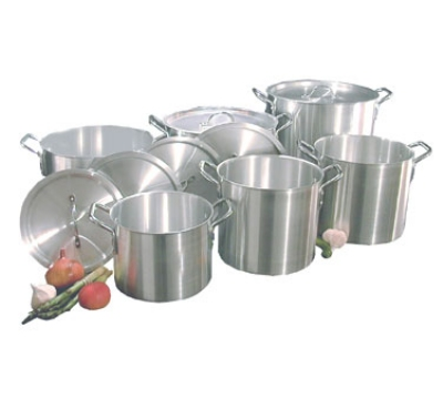 Town Food Service 34632 Aluminum Stock Pot Set, 12 Piece: 8, 12, 16, 18, 24, 36-qt