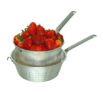 Town Food Service 37908H 8 in Strainer, With Handle And Hook, Aluminum