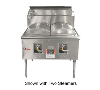 Town Food Service CF-1 LP Cheung Fun Noodle Range, Gas, 1 Two Ring Burner, Manual Fill Faucet, 43 in, LP